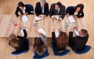 Board Table People Sitting