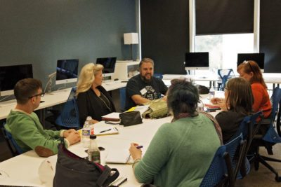 Artists Talking at a Workshop