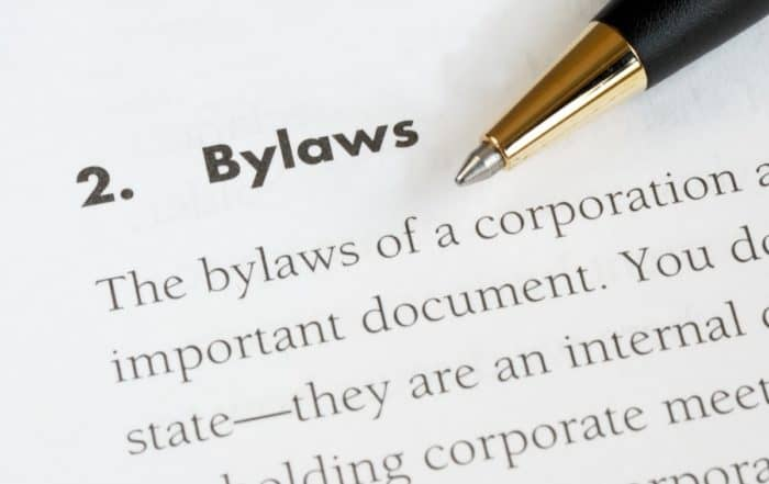 Bylaws of a nonprofit