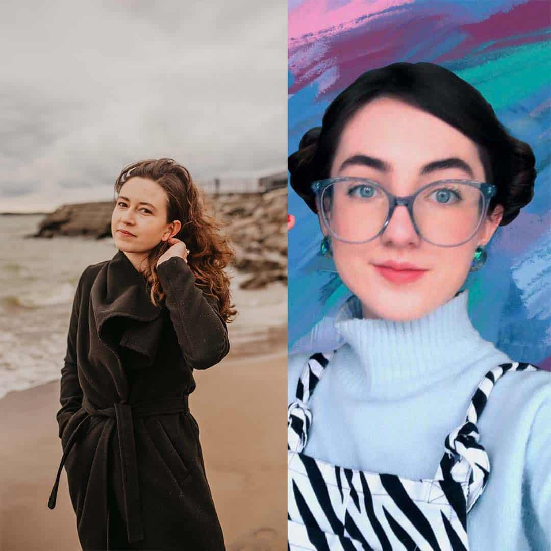 Alexis Oltmer and Julie Klein Headshots